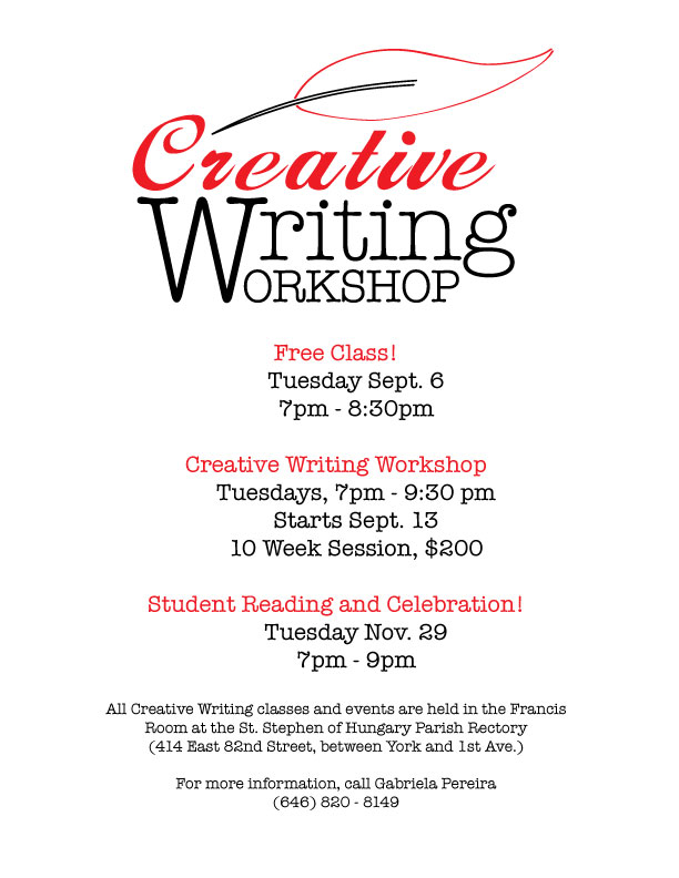 nyu creative writing events The creative writing program has been established at stanford for more than fifty  years over that time, it has expanded  upcoming events more events .